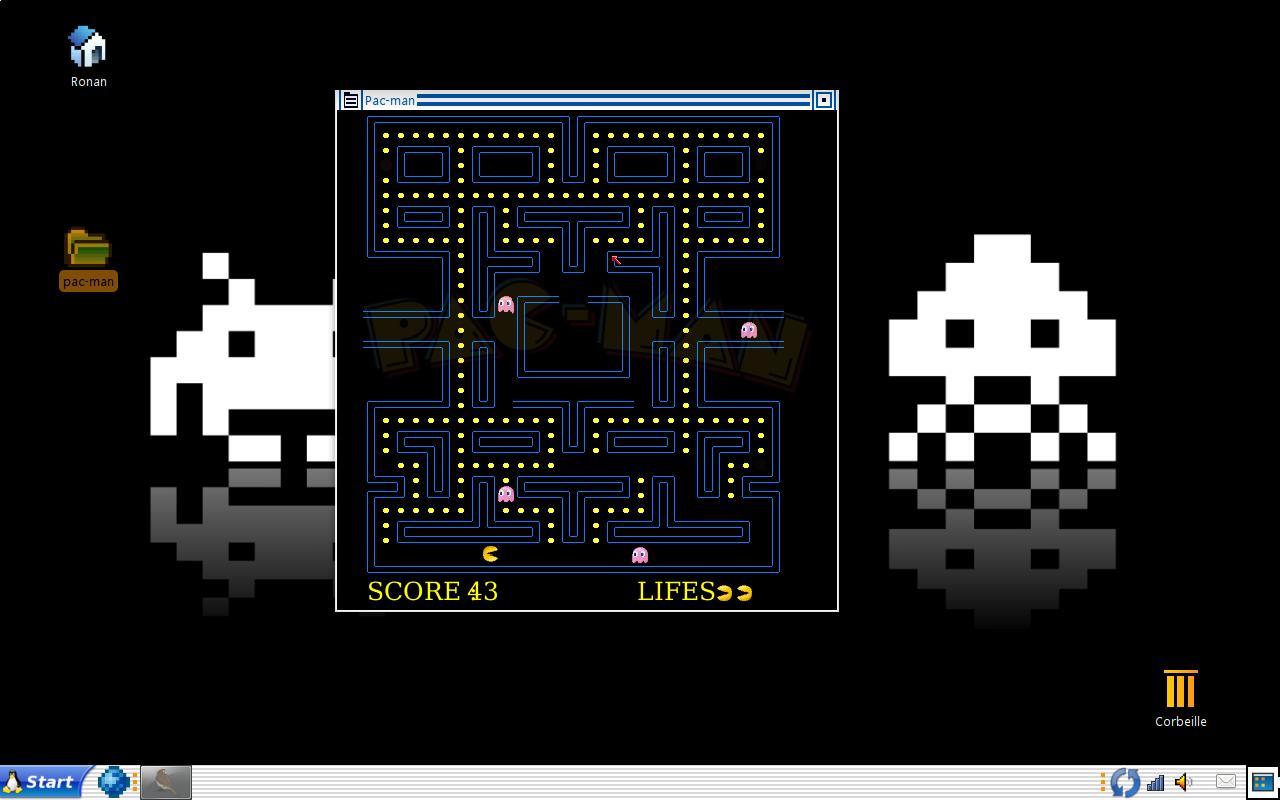 Pac-Man en Linotte