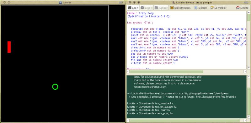 Copie d'écran de Linotte 0.4.0 b2